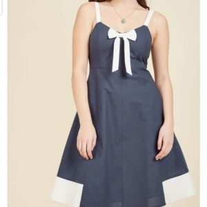 "NWT Modcloth ""Yours to Adore"" Navy pin up Dress"